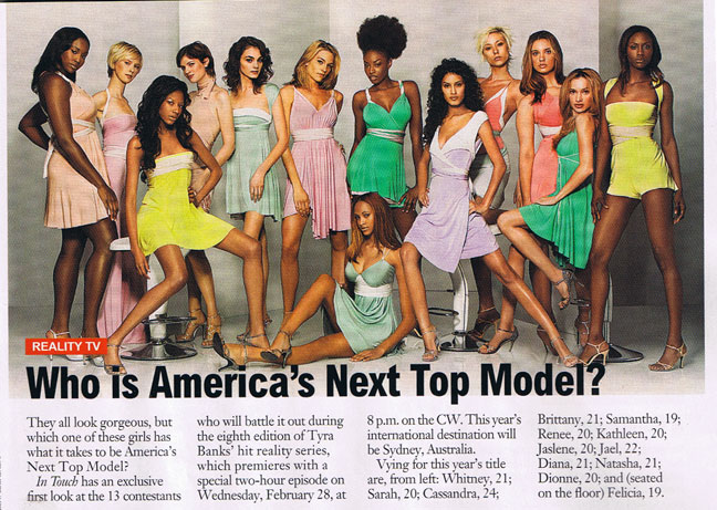 America's Next Top Models in The Hayley Starr Astral Collection- Styled by Johnny Wujek (2005)