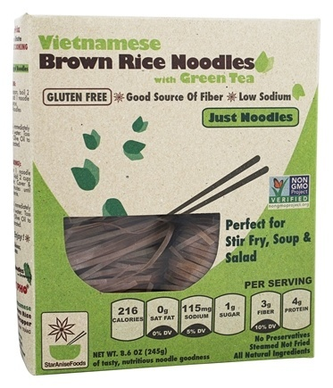 SUGGESTED FOOD: VIETNAMESE BROWN RICE NOODLES -  Vietnamese brown rice noodles with organic green tea gluten free excellent source of fiber low sodium perfect for stir fry, soup & salad Find the link to this and other suggested healing devices here.