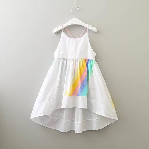 Rainbow Stripe Summer Dress