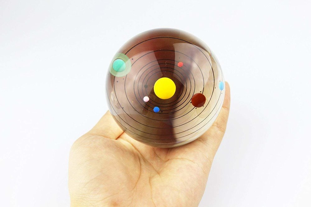 3D Crystal Ball With Solar System Model
