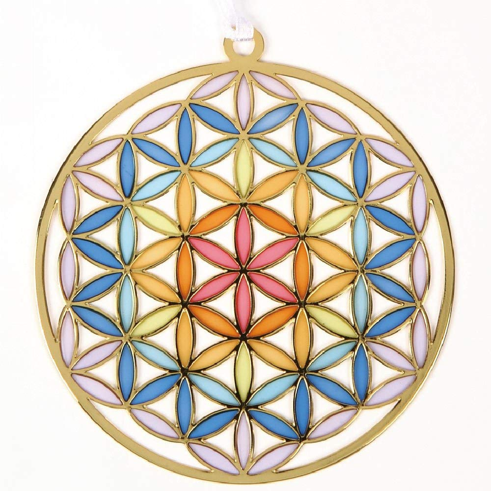 Japan Flower of Life Stained Glass