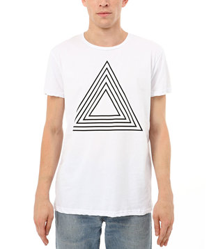 Triangle T-Shirt Black and White