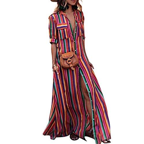 Women Button Down Maxi Dress