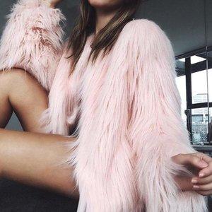 Warm Faux Fur Fluffy Cropped Jacket