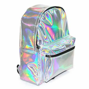 Holographic Laser Leather Backpack