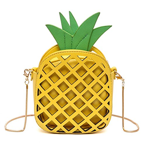 Pineapple Shaped Leather Clutch