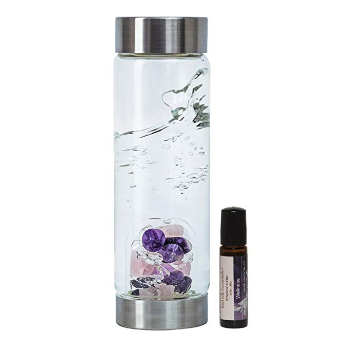Gemstone Water Bottle with Essential Oil