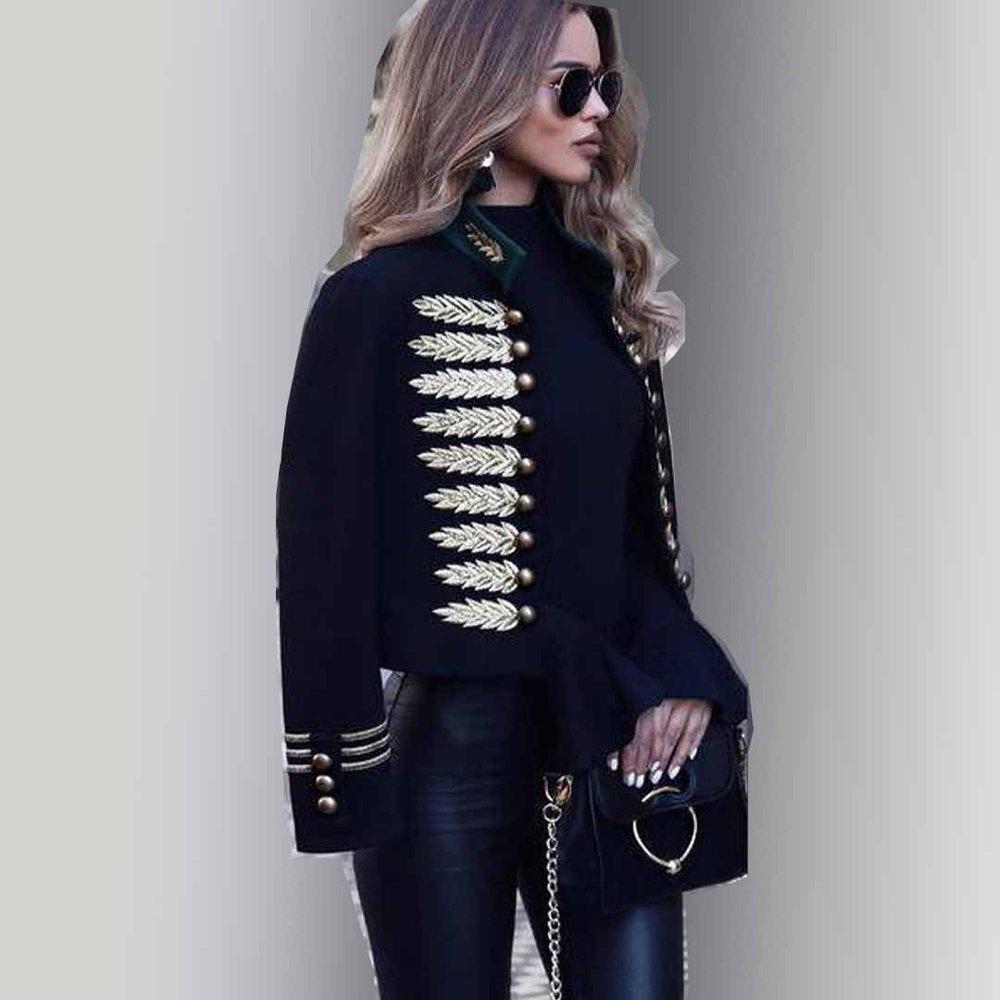 Fashion Printed Long Sleeve Coat