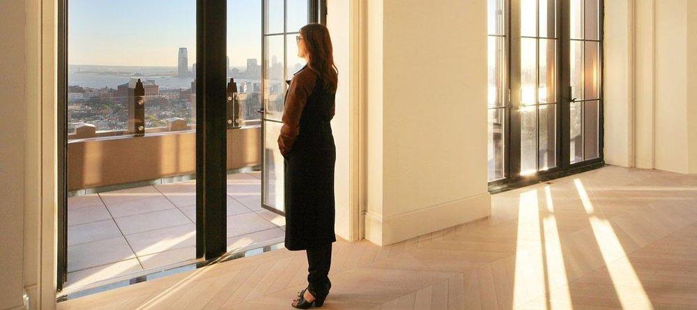 8:31 AM. Walker Tower. - Through a Skyline Series 1700 Terrace Door