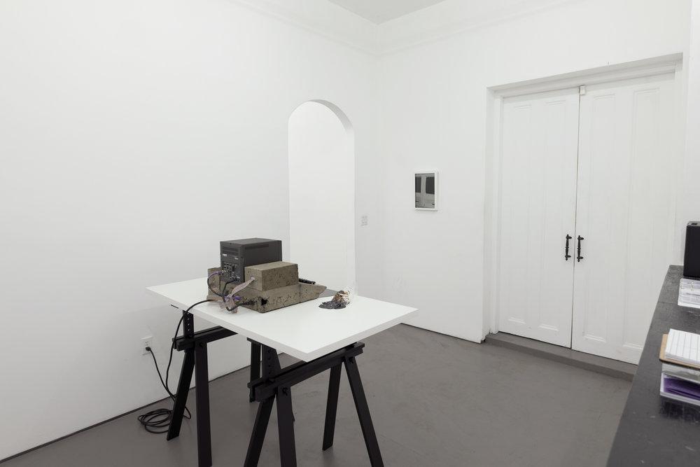 Black Gooey Universe  (installation view, HOUSING, Brooklyn, NY)