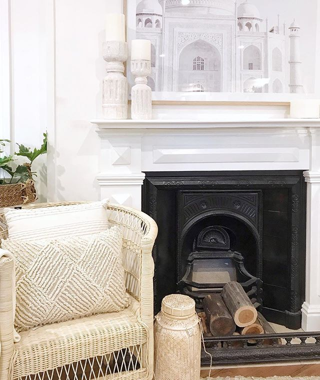 Talk about sisterly love! 💛 How serene is our gorgeous sister store @thewhitebungalow_ looking this morning? Loving our new Indah chair looking nice cosy by her fireplace. It's seems natural style runs in our family 😉Wishing you all a fantastic Sunday x @whitehavana