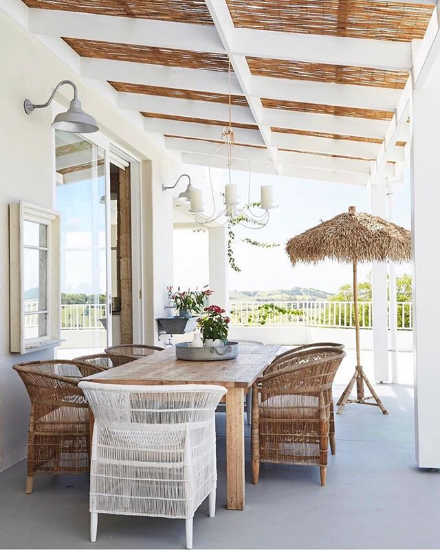 We've been a little quiet on our home front the past couple of weeks and we wish it was because we were relaxing here  @picadillyhouse ! 🌴 We are  working on a few exciting projects that we are so looking forward to sharing with you. Meanwhile we will just keeping dreaming of this blissful veranda...... x