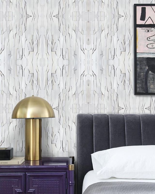 SZIMPLA in gray- cut paper arranged and photographed. Available in three colorways- Link in bio. | #taylorwmurphy #wallpaper