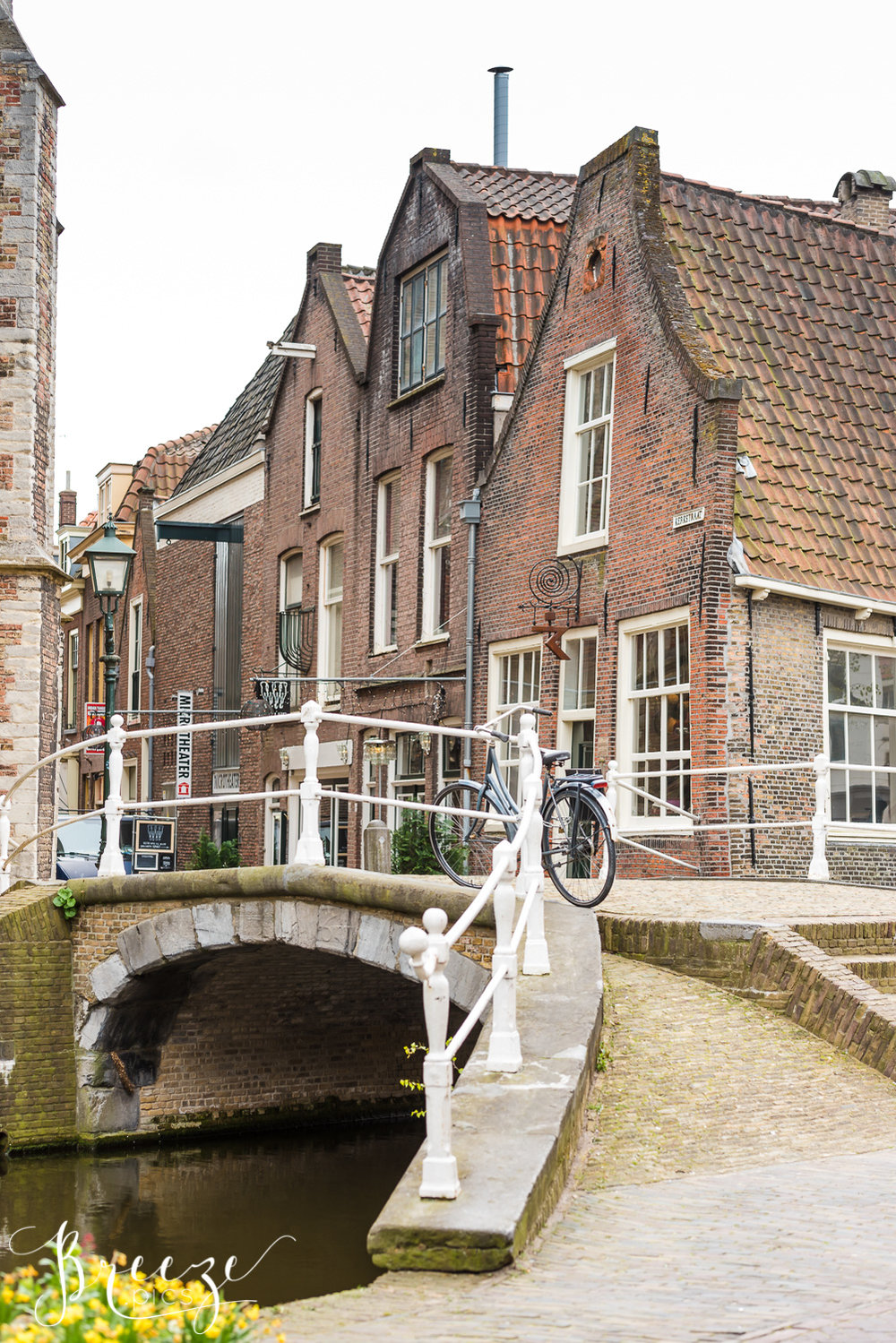 Delft House and Canal, The Netherlands, Travel Photography, Bernadette Meyers