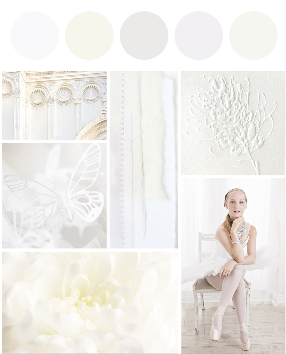 Create a perfect sanctuary, white mood board, breeze pics
