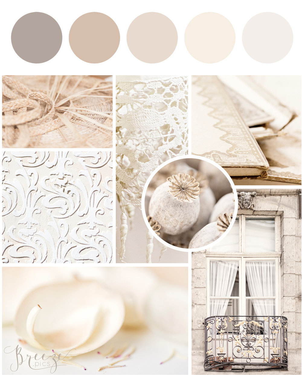 Neutral mood board, creating a sanctuary at home, Breeze Pics
