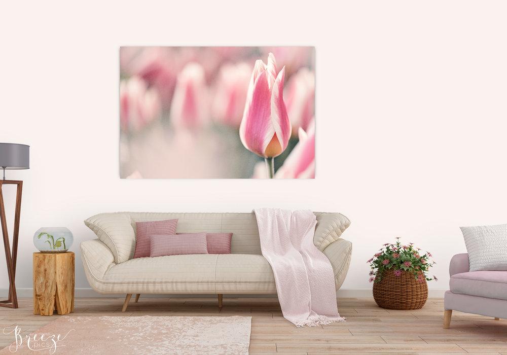 Pink fine art nature photograph, home decor prints, Breeze pics