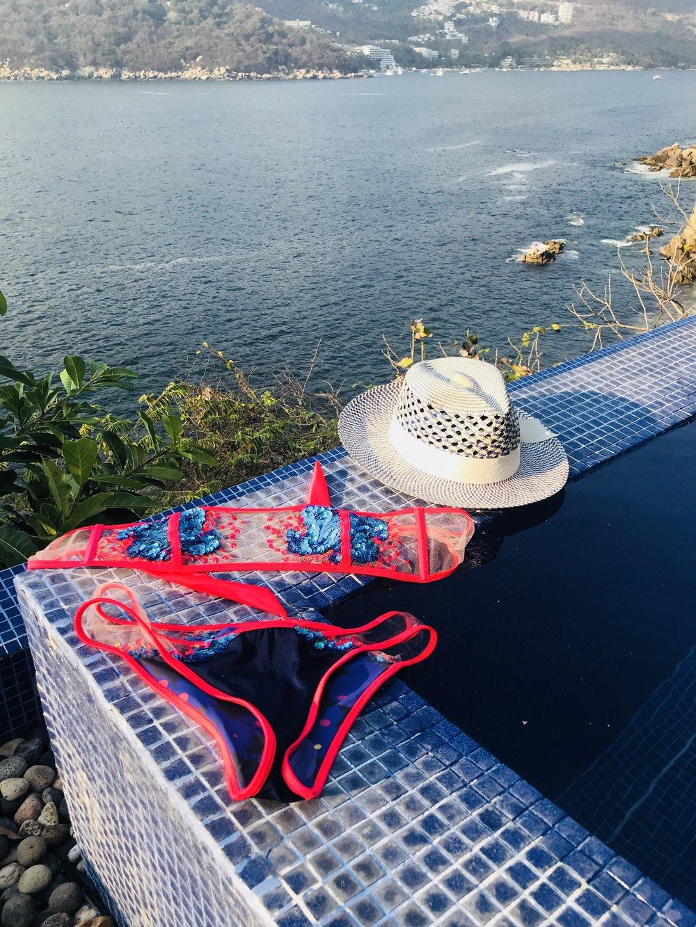 No Neighbors, Private Villa Pool, took a break from sporting my bikini around the resort aka Skinny Dipping is a must :P