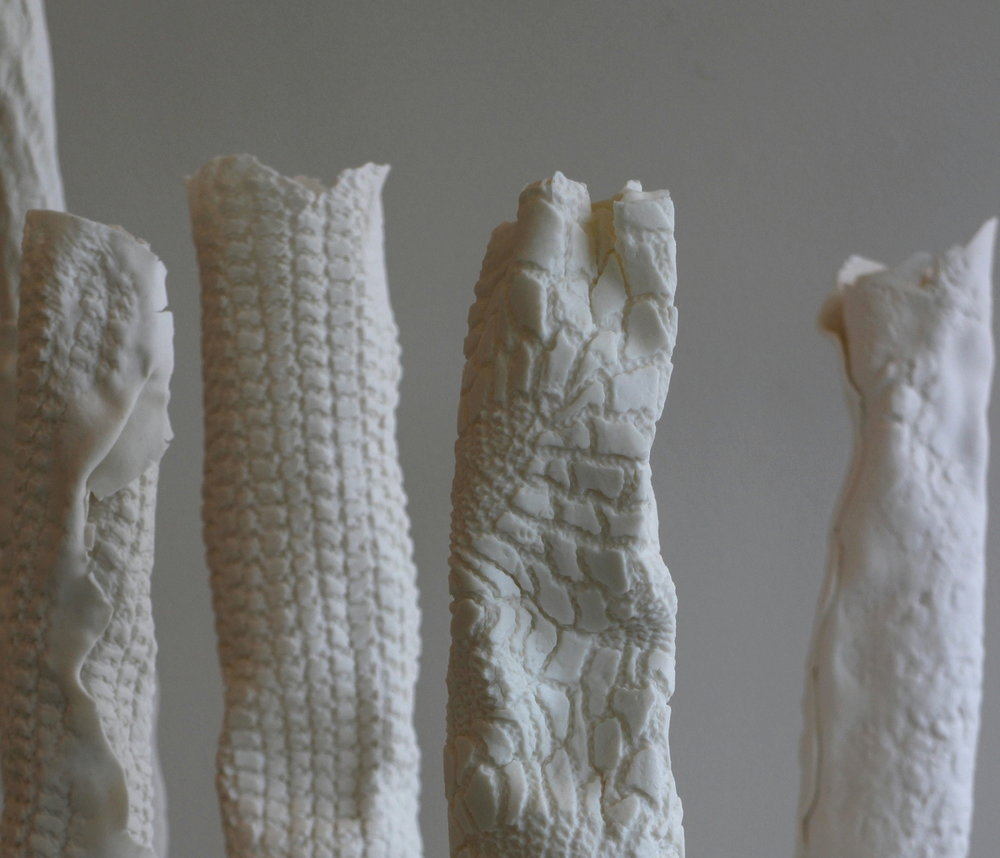 Porcelain 'Thingy' Vessels by Susannah Bridges - sculptural objects just in