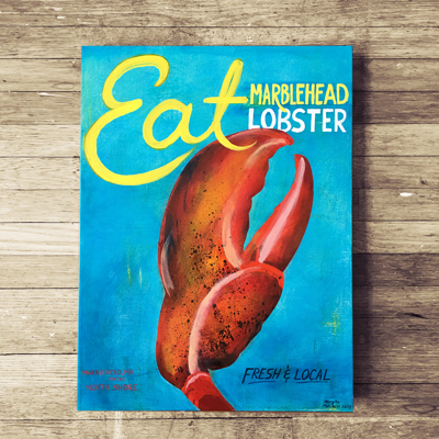 """Eat Marblehead Lobster"" Prints starting at $30"