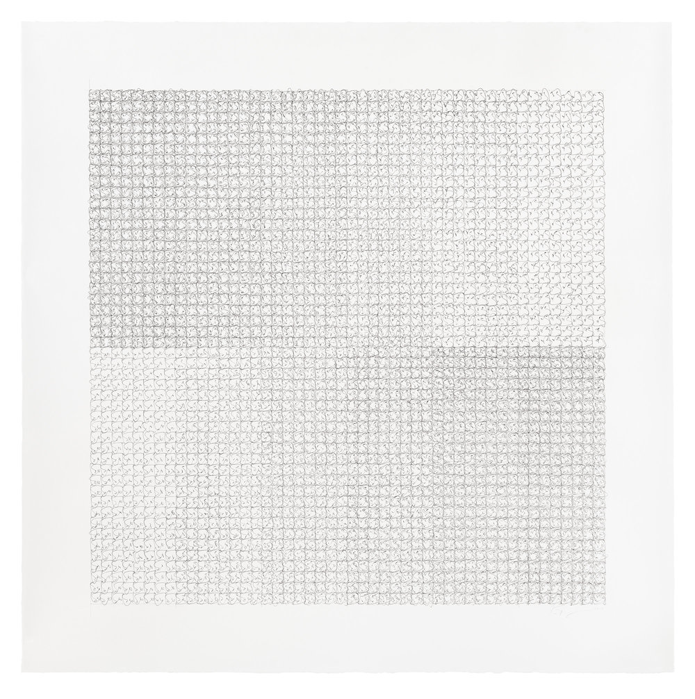 At One Time Or Another , 2015, Ink on Paper, 48 x 48 inches [framed size]