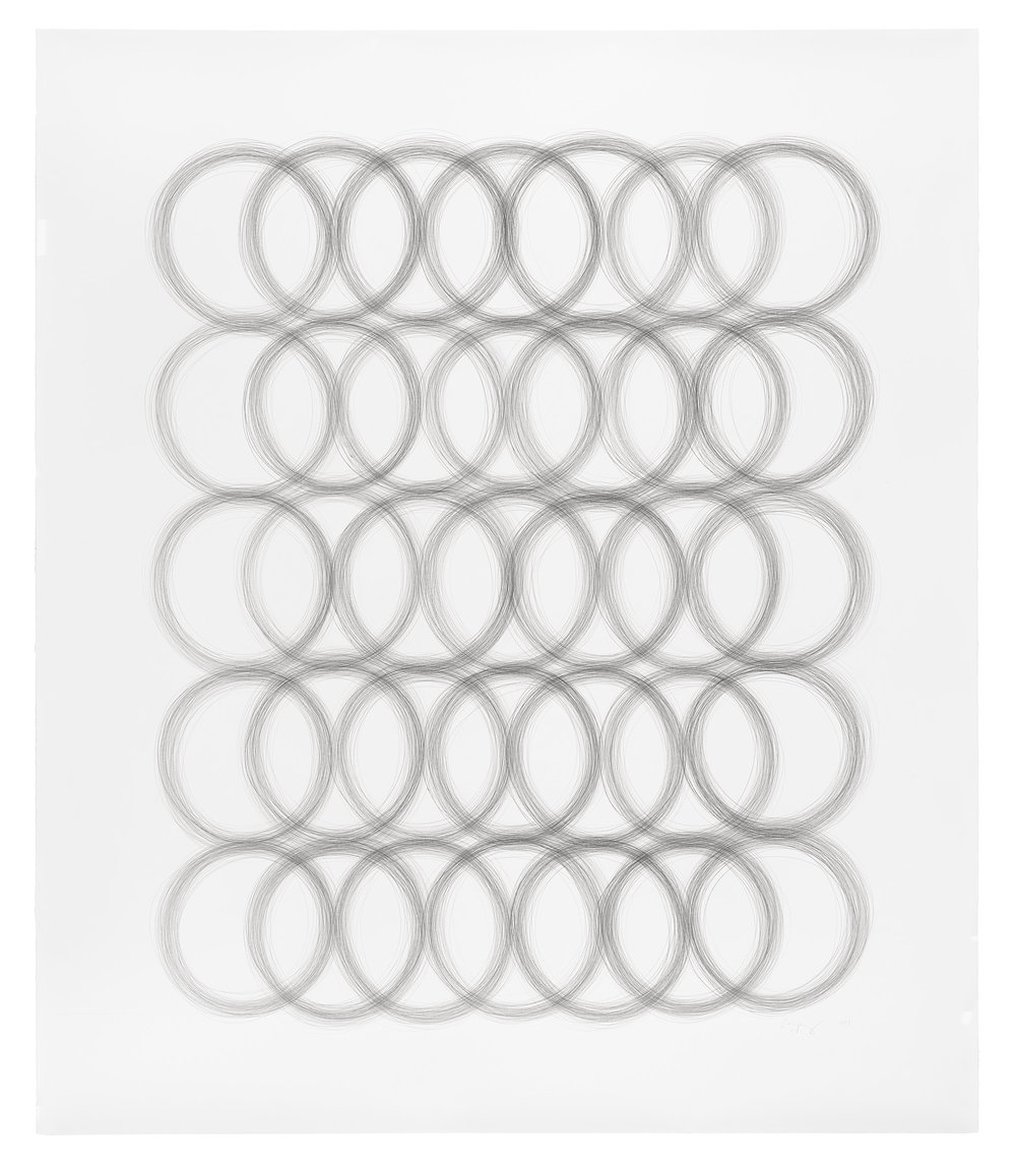 Ring Sequence,  2017, Ink on Paper, 42 x 52 inches