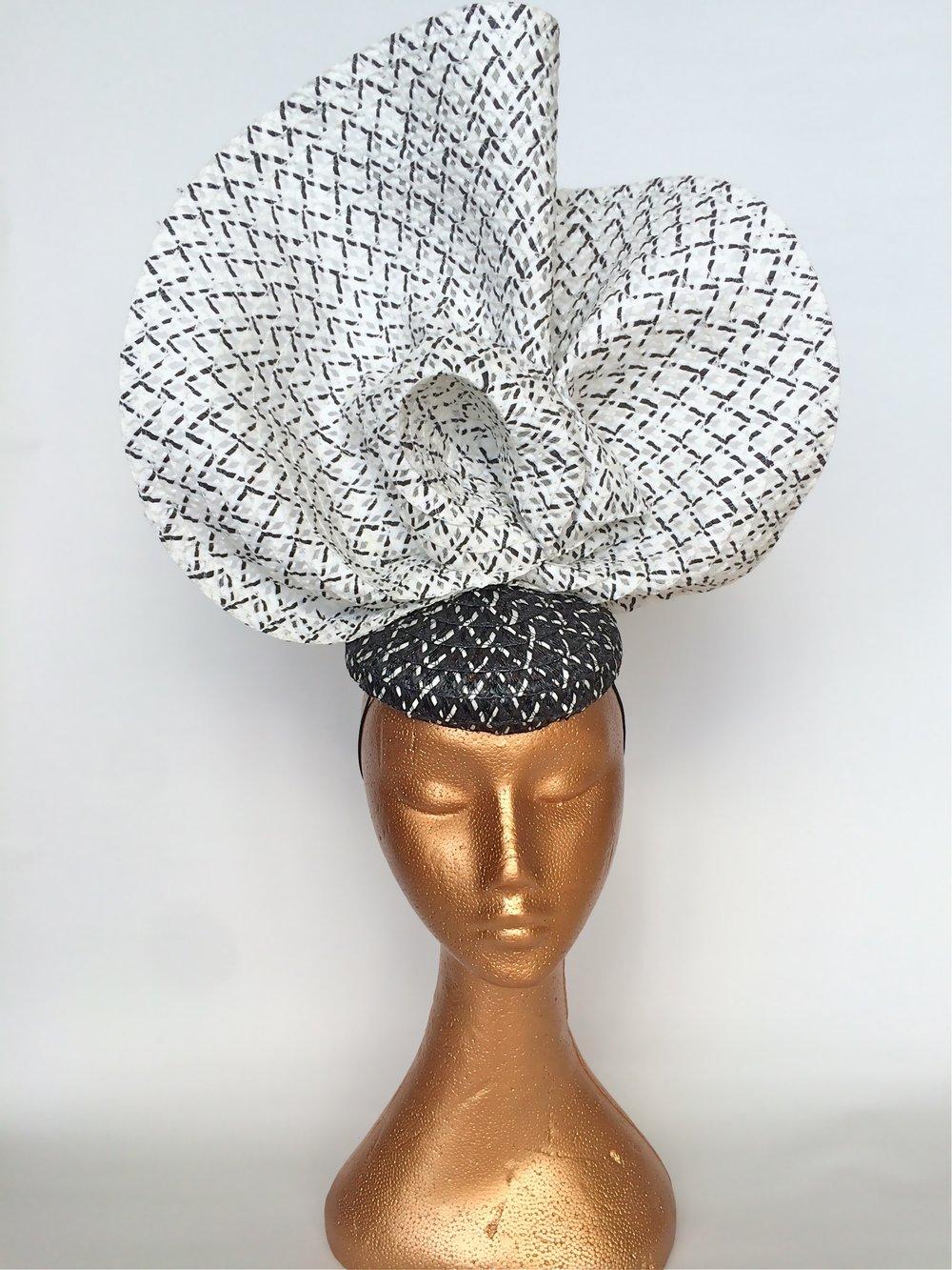 Black and White Satellite Hat