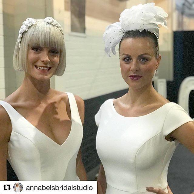 Thankyou to Annabel's Bridal Studio for showing some of my bridal headpiece's. 💗 #bridalheadpiece #bridegoals #weddingday #bridal  #Repost @annabelsbridalstudio with @get_repost ・・・ Backstage & ready for parade 🥇beautiful models @victoriasmodelscanberra @elissamichel @yourlocalweddingguide @wendymakinbridal #annabelsbridalbride @edwinawoodsmillinery @windsorbridaljewellery @blissdesignjewellery
