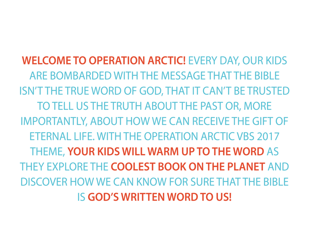 welcome to operation arctic vbs 2017 text