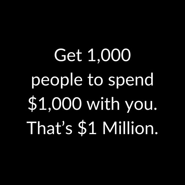Sometimes the math makes it a bit more clear. How many people do you need to reach? And how much do you need them to spend with you to reach your business goals? Questions worth spending time on.