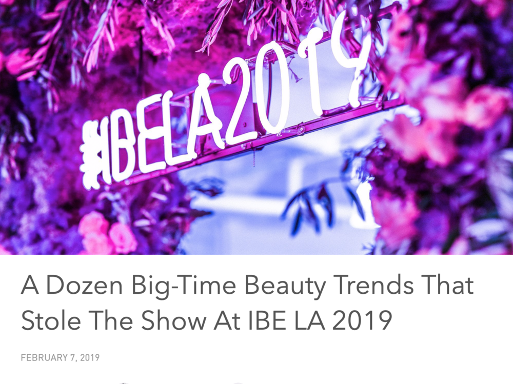 Indie Beauty Expo LA - KIND-LY featured as one of 12 Big-Time Beauty Trends That Stole The Show at IBE LA 2019.