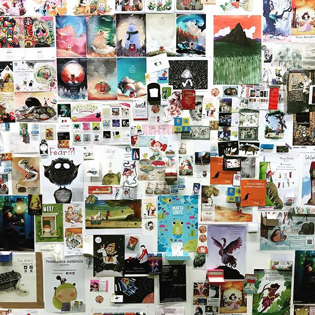 The Illustrators' Wall / Bologna Children's Book Fair #BCBF #childrensbooks #picturebooks #kidsbooks