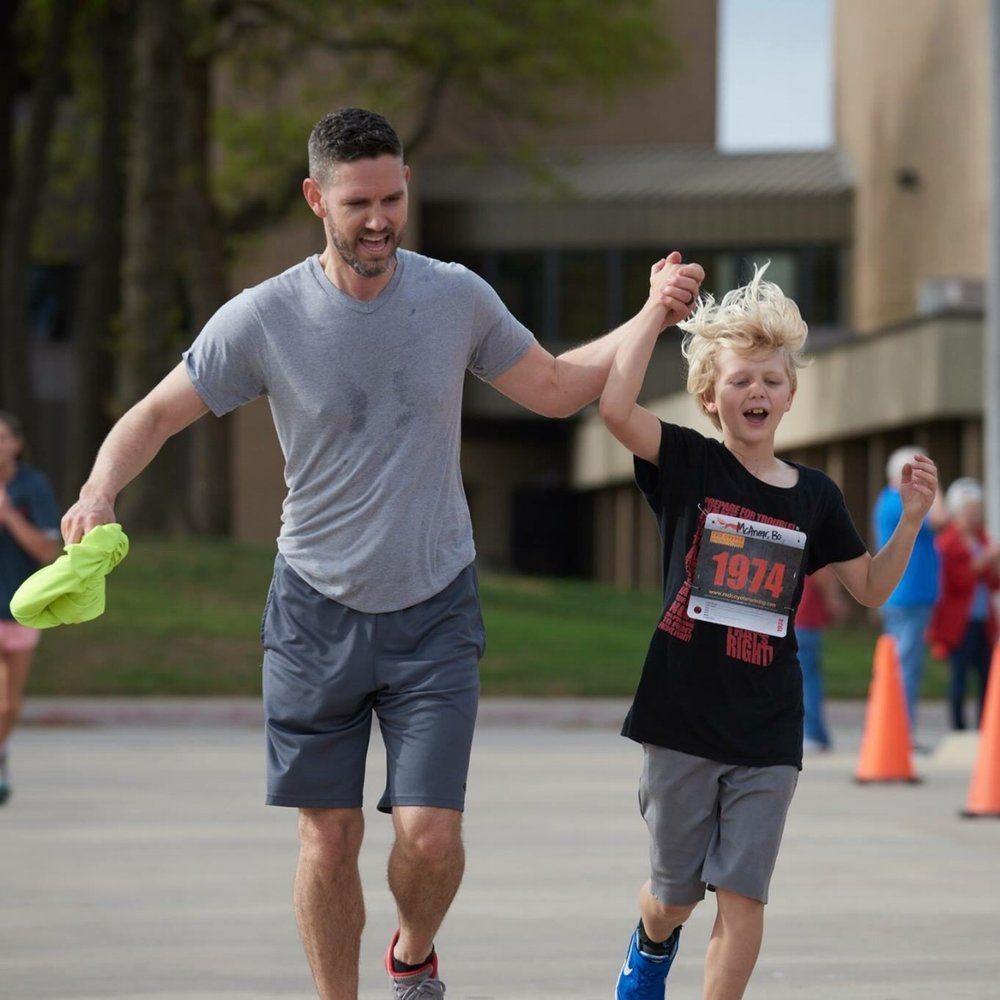 Bo (age 10) and Garrick participated in a 5K to raise money for  House of Healing .
