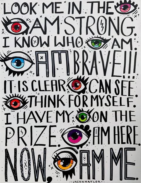 EYE AM ME $1,215 - ACRYLIC ON WOOD PANEL30X40
