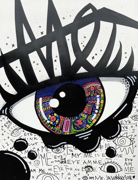 EYE DISCOVER ME $1,350 - ACRYLIC ON WOOD PANEL36X48