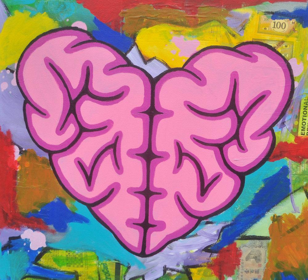 Brain Heart $675 - ACRYLIC ON CANVAS30X28
