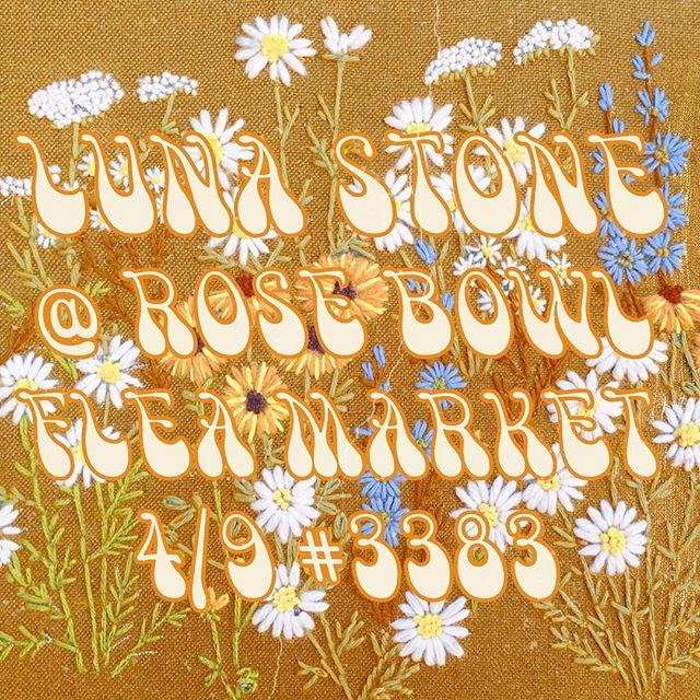Luna Stone Pop Up! We'll be slangin' our vintage collection @ the Rose Bowl Flea Market this Sunday in the Vintage white section! #rosebowlfleamarket #vintage #vintageclothing #pasadena #vintagestyle #vintagefashion #lunastone #rosebowl #rgcanning