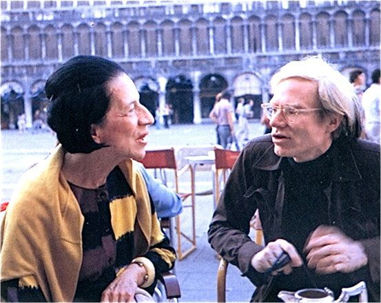 Diana Vreeland and Andy Warhol