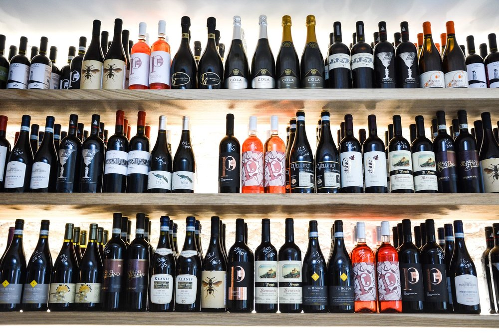 A wine shelf worth dying for -