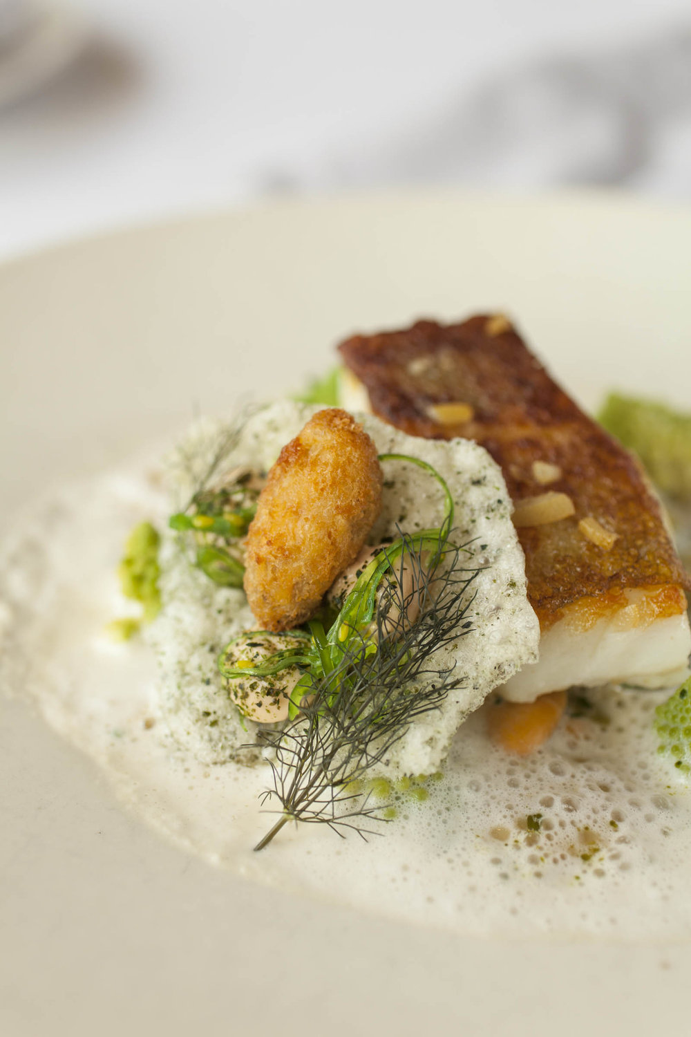 Roast Cornish Cod, smoked anchovies, bagna cauda and mussels  -