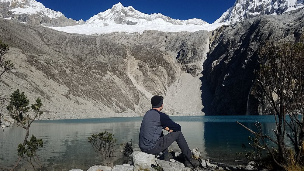 Above: a ginger ponders life, the universe, and everything. Laguna 69, Cordillera Blanca.