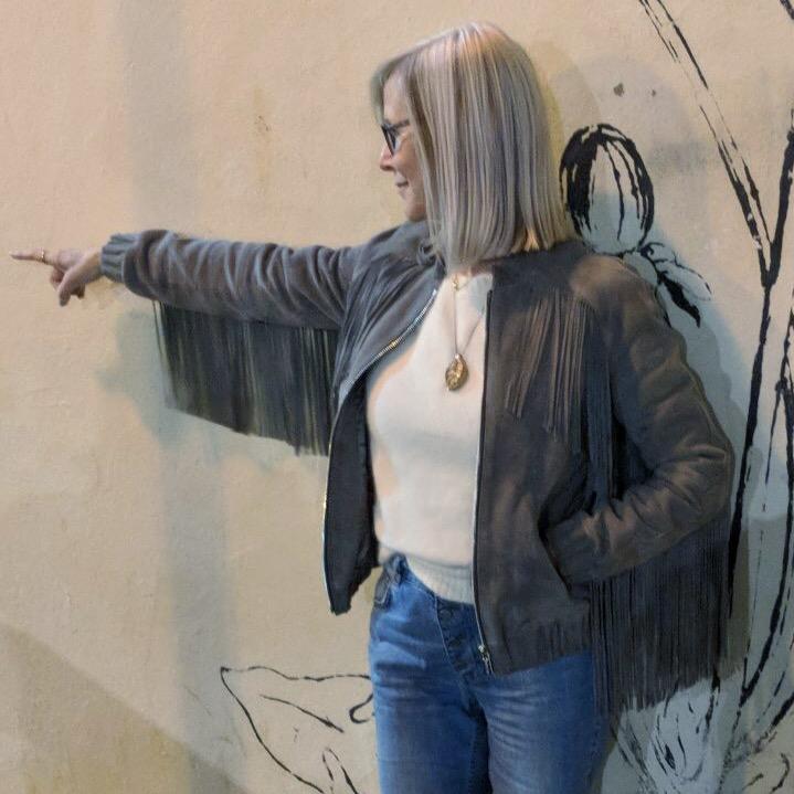 Anine Bing grey suede fringed jacketJPG