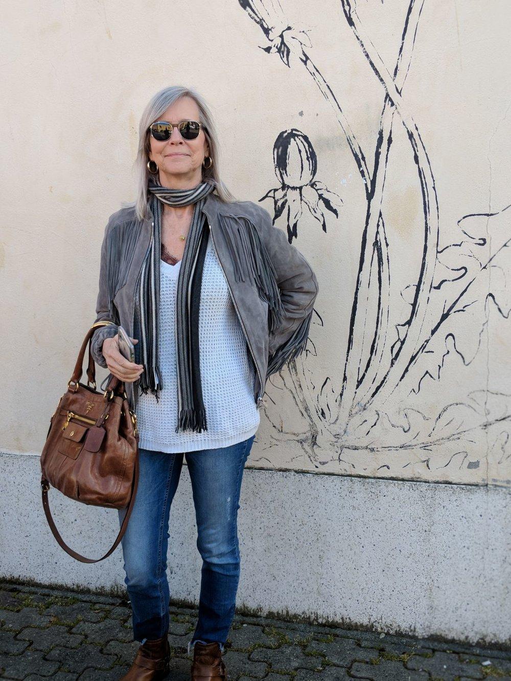 Anine Bing Grey Suede Jacket.JPG