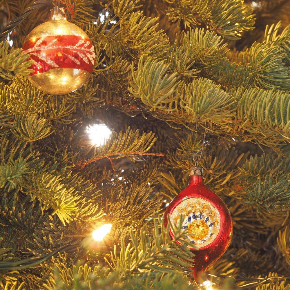 Vintage Christmas baubles