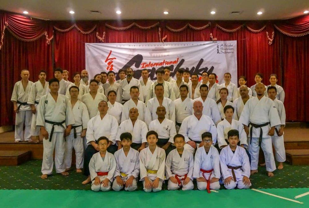 Participants of the Aikido Shudokan International Gasshuku 2018