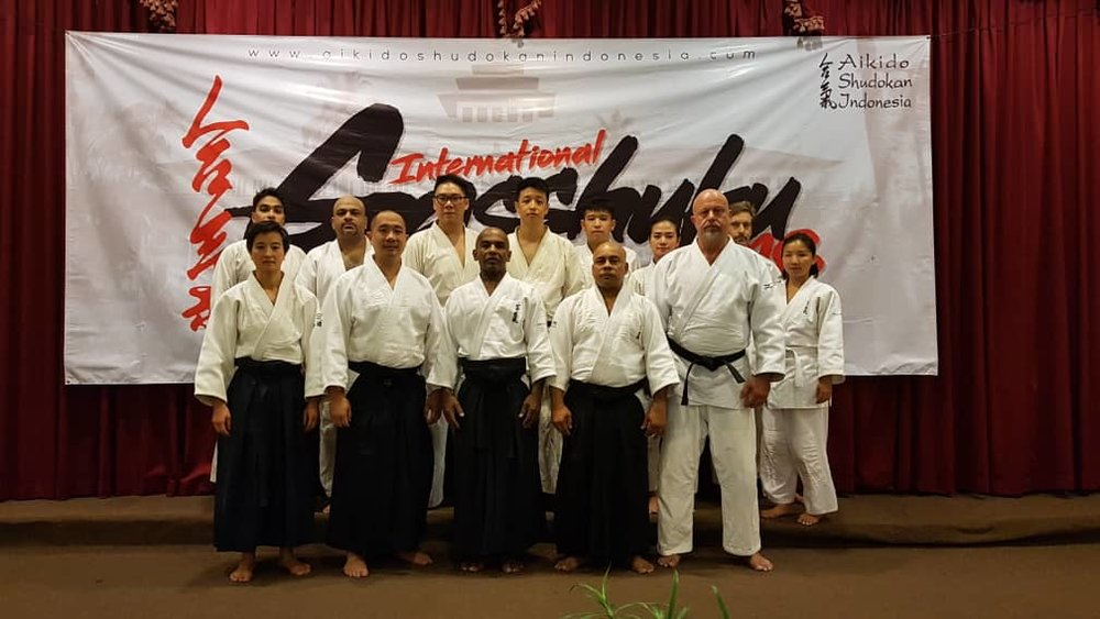The Aikido Shudokan Singapore participants with the instructors