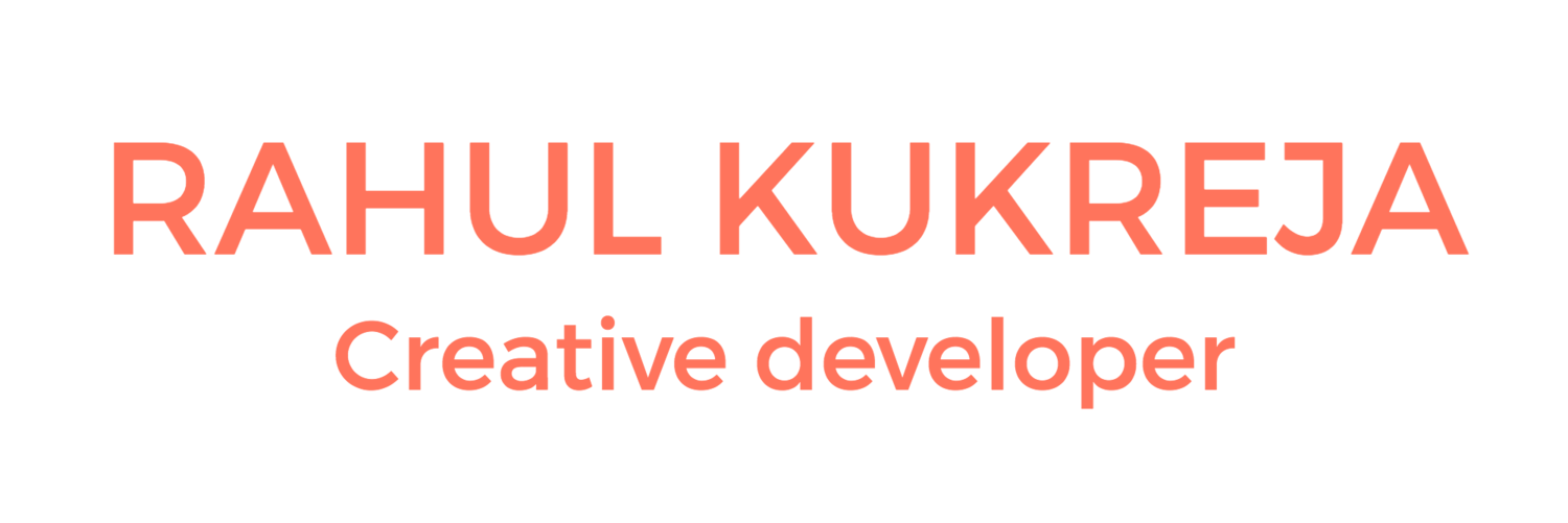 Rahul Kukreja Creative Developer