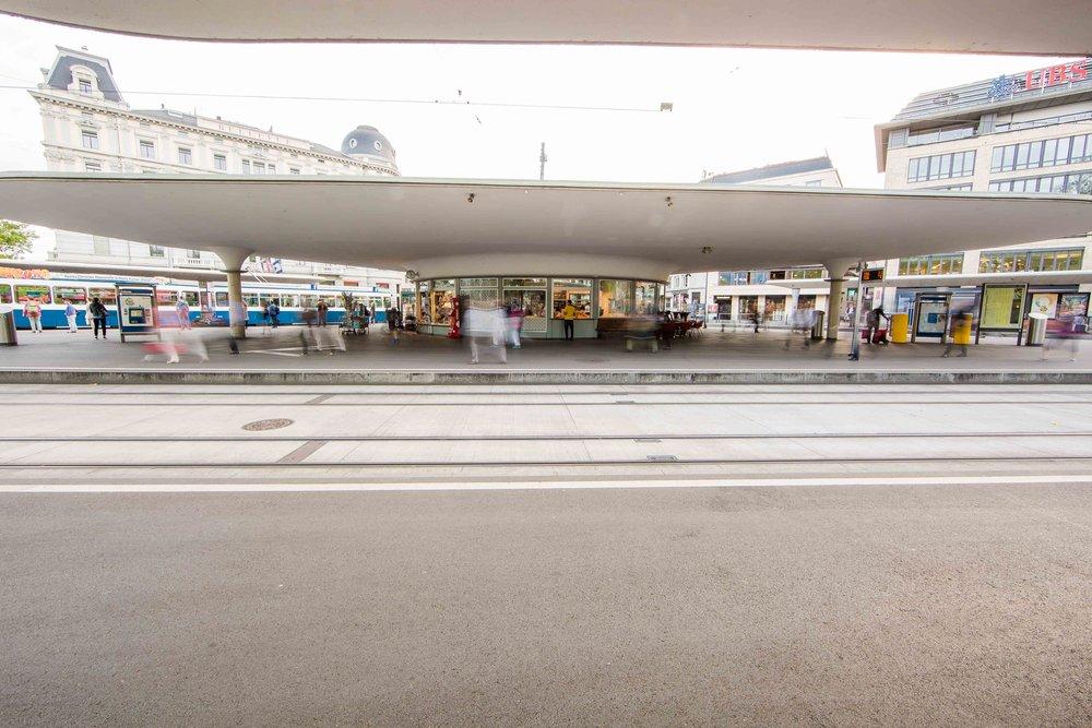 Denkmalgeschützte Post-Moderne Zürich's.