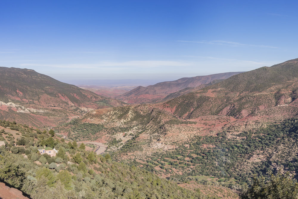 The Atlas Mountains near Marrakech