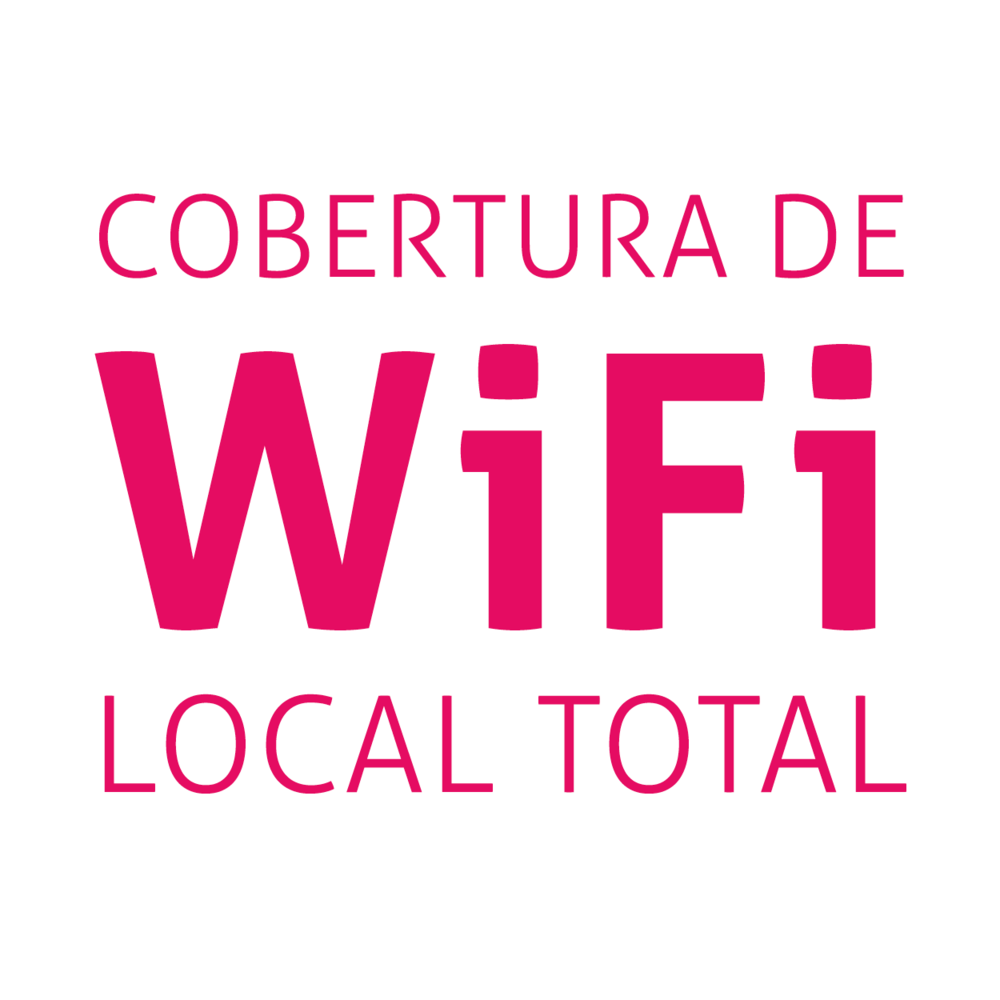 Cobertura de Wi-Fi local total